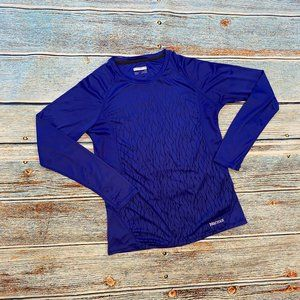 Marmot Blue Long Sleeve Reflective Top L
